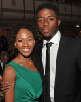 Jackie Robinson with his wife (Chadwick Boseman and Nicole Beharie)